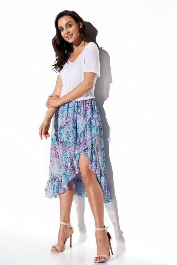Spódnica z krótszym przodem i falbaną LAUREN 1