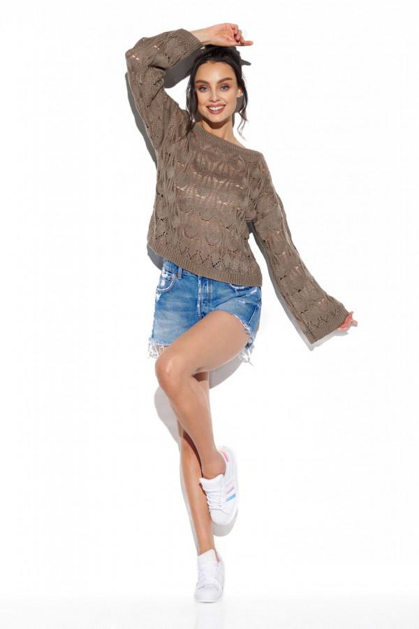 Ażurowy sweter z rozszerzanymi rękawami MANCY 1
