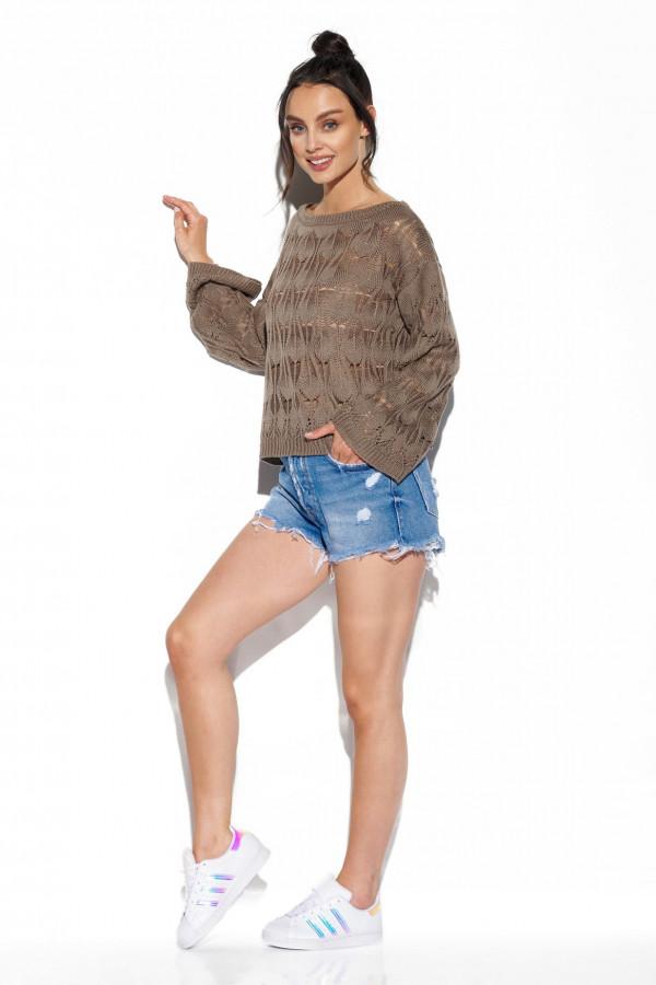 Ażurowy sweter z rozszerzanymi rękawami MANCY 2