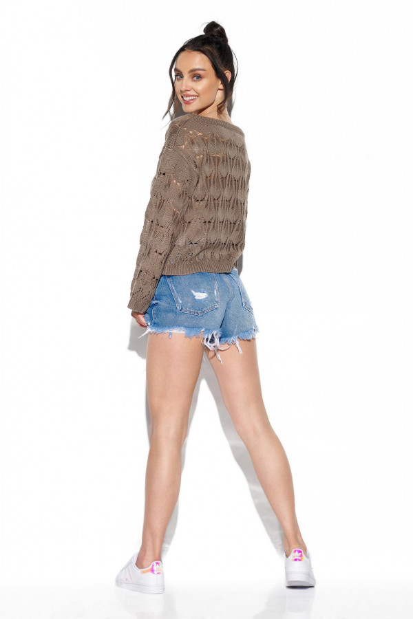 Ażurowy sweter z rozszerzanymi rękawami MANCY 3