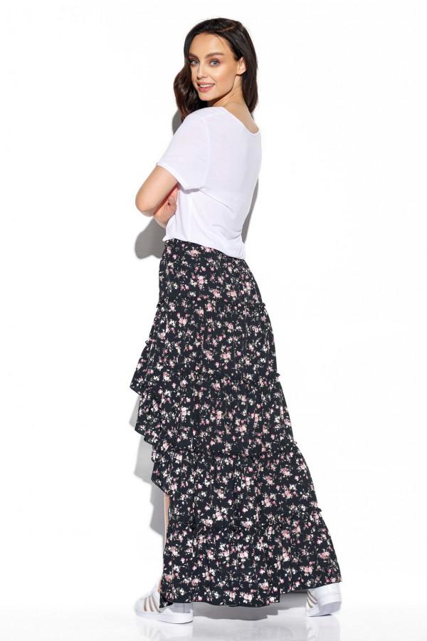 Asymetryczna spódnica z falbaną DARCY 6