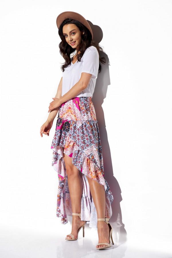 Asymetryczna spódnica z falbaną DARCY 5