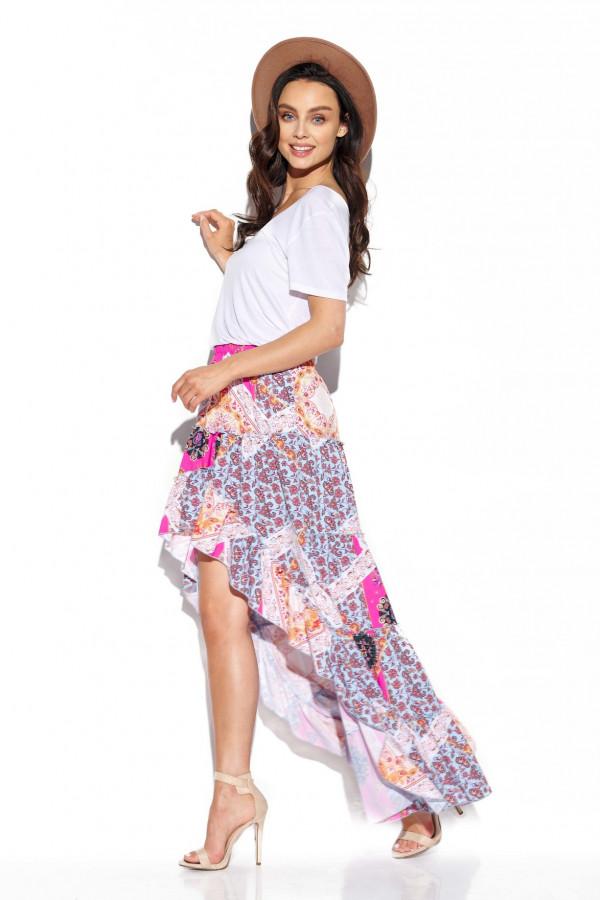 Asymetryczna spódnica z falbaną DARCY 7
