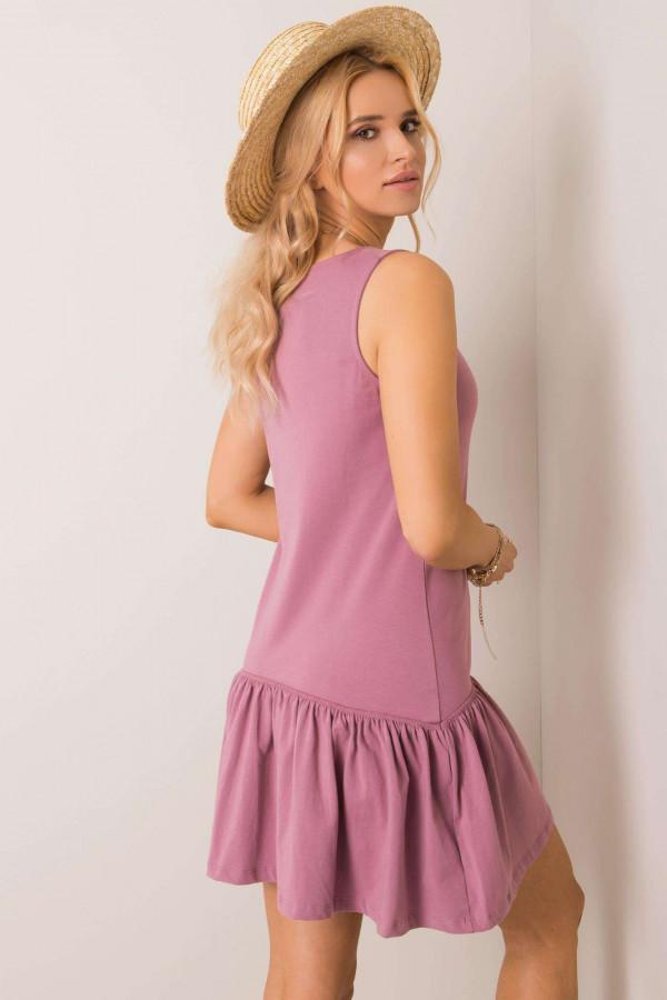 Sukienka basic z falbaną TRIPLE 2