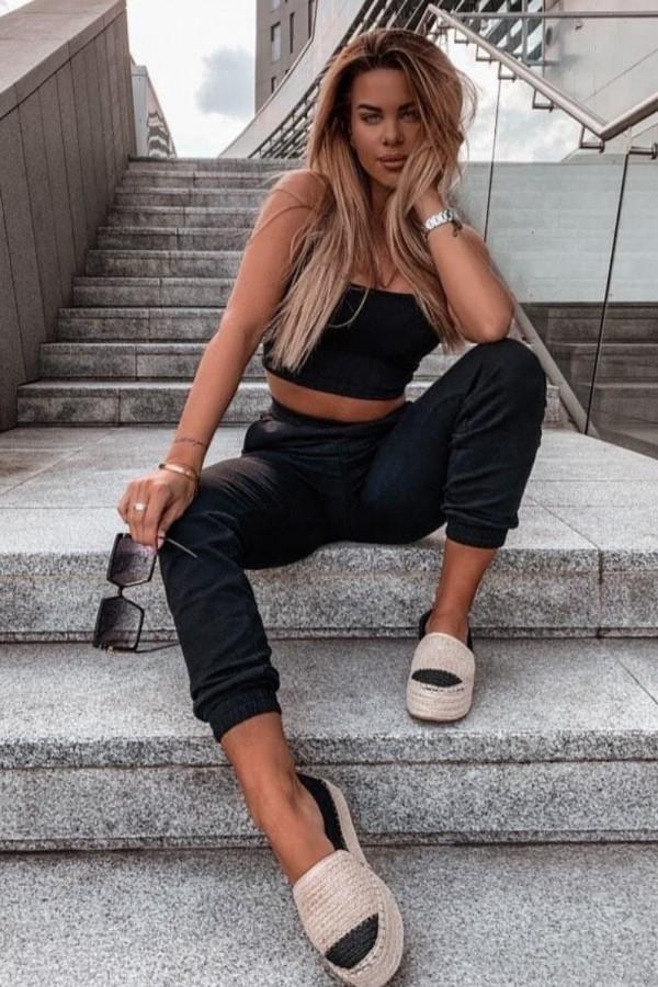 Komplet dresowy top + spodnie FASHION 9
