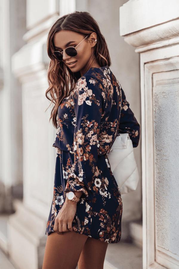 Sukienka w kwiaty MALVINA 1