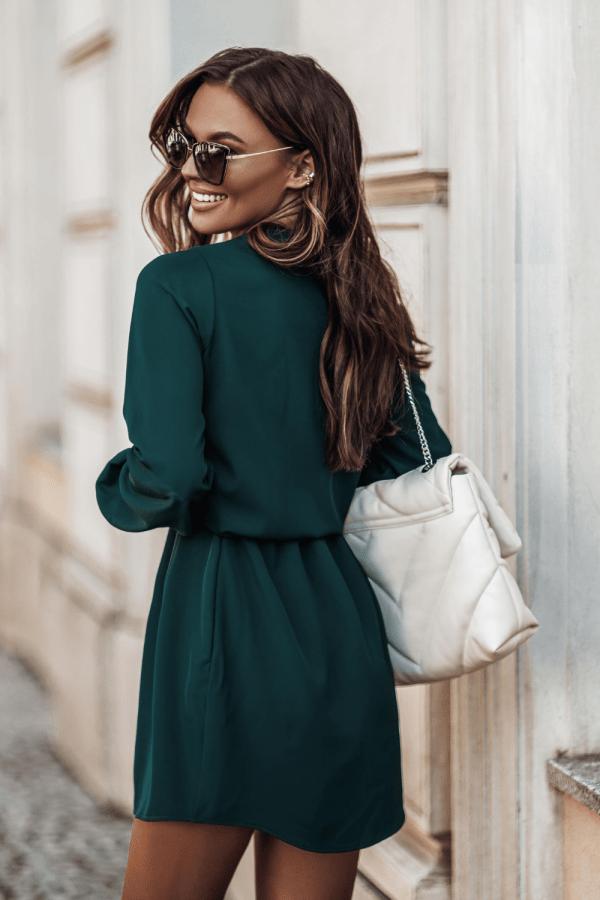 Sukienka z dekoltem w literę V MALVINA 1