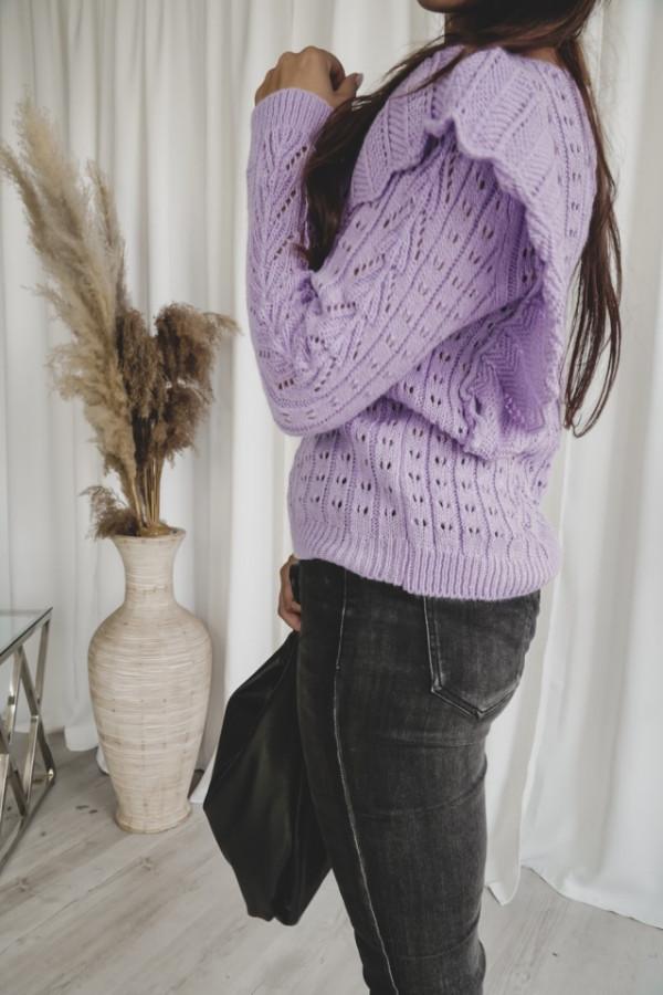 Ażurowy sweter z falbaną SIMENTAL 3