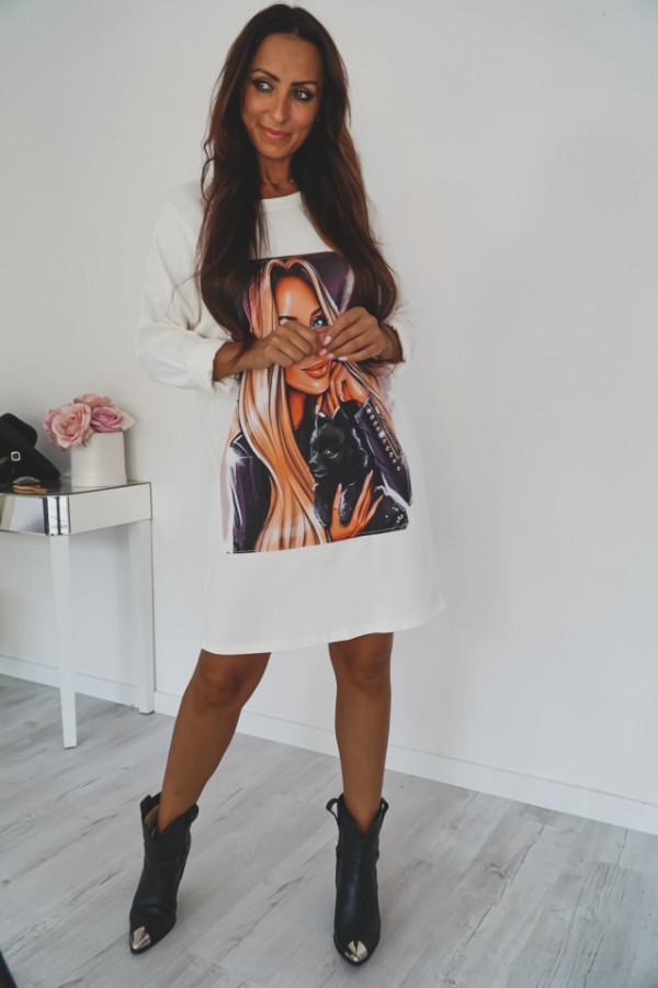 Sukienka z nadrukiem EKEMA 1