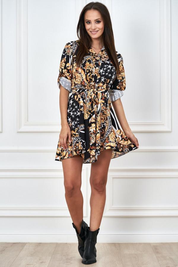 Sukienka szmizjerka we wzory LAMIRA
