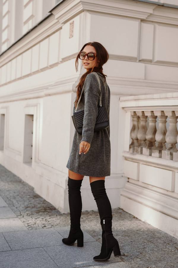 Długi sweter sukienka LONDON 1