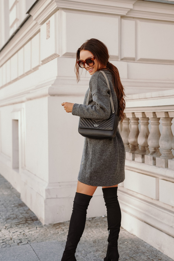 Długi sweter sukienka LONDON 3