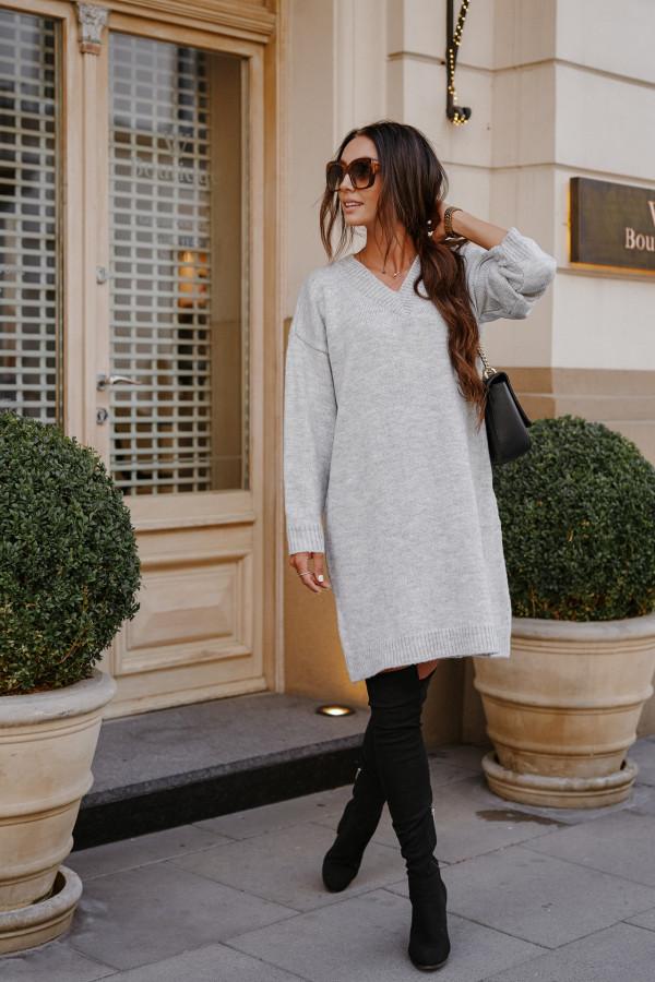 Długi sweter sukienka LONDON 5
