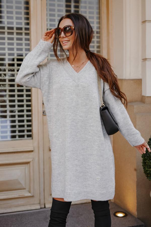 Długi sweter sukienka LONDON 6