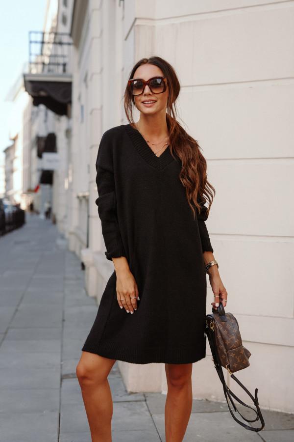 Długi sweter sukienka LONDON