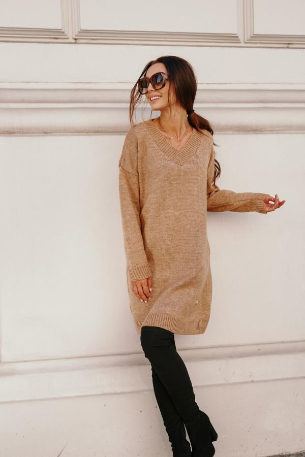 Długi sweter sukienka LONDON 2