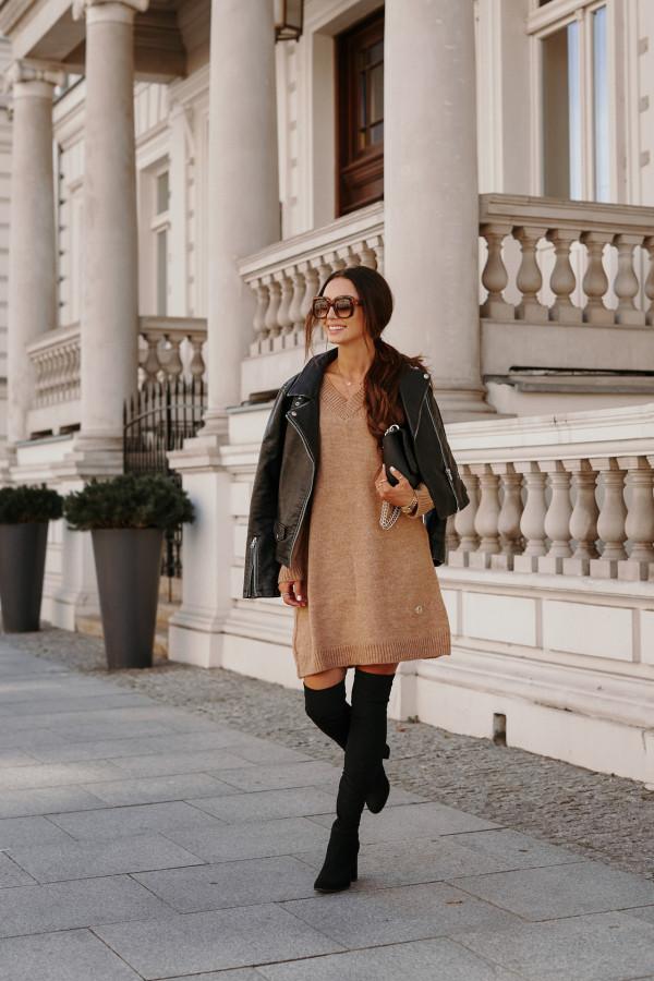 Długi sweter sukienka LONDON 4
