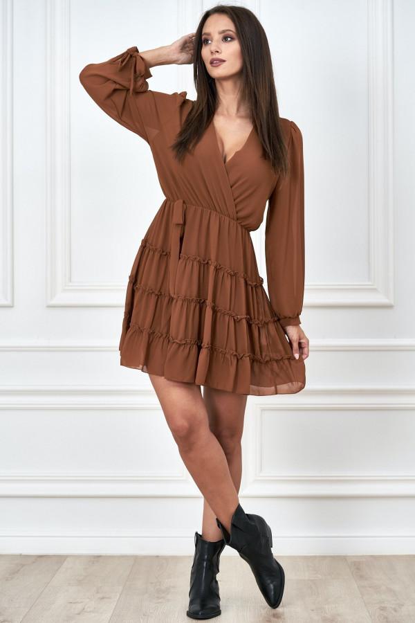 Kopertowa sukienka szyfon LILIANNA