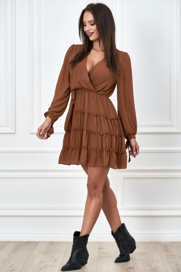 Kopertowa sukienka szyfon LILIANNA 1