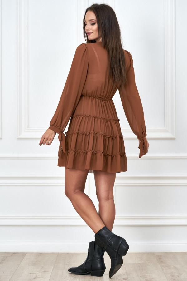 Kopertowa sukienka szyfon LILIANNA 2
