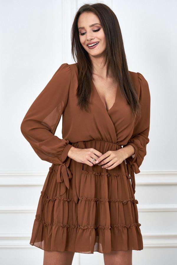 Kopertowa sukienka szyfon LILIANNA 3