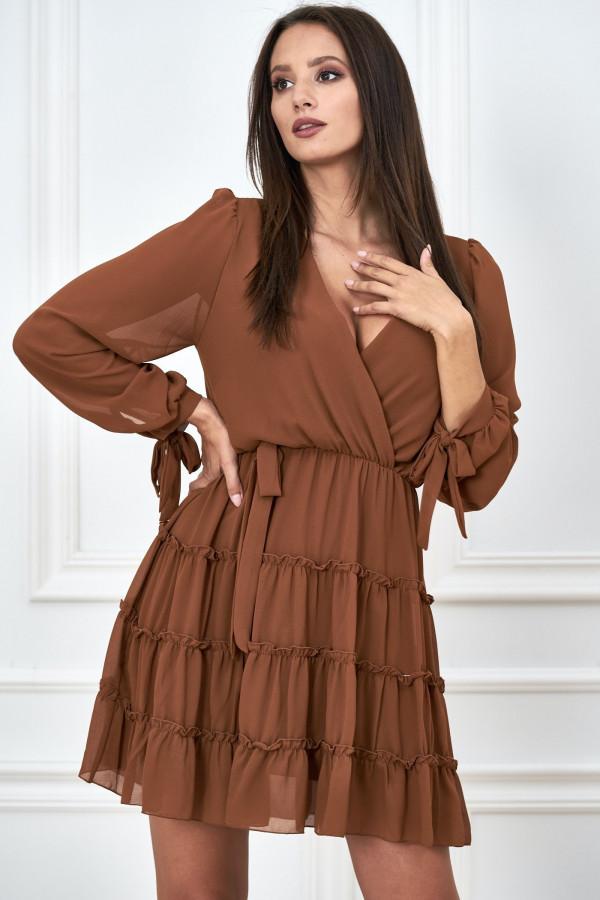 Kopertowa sukienka szyfon LILIANNA 4