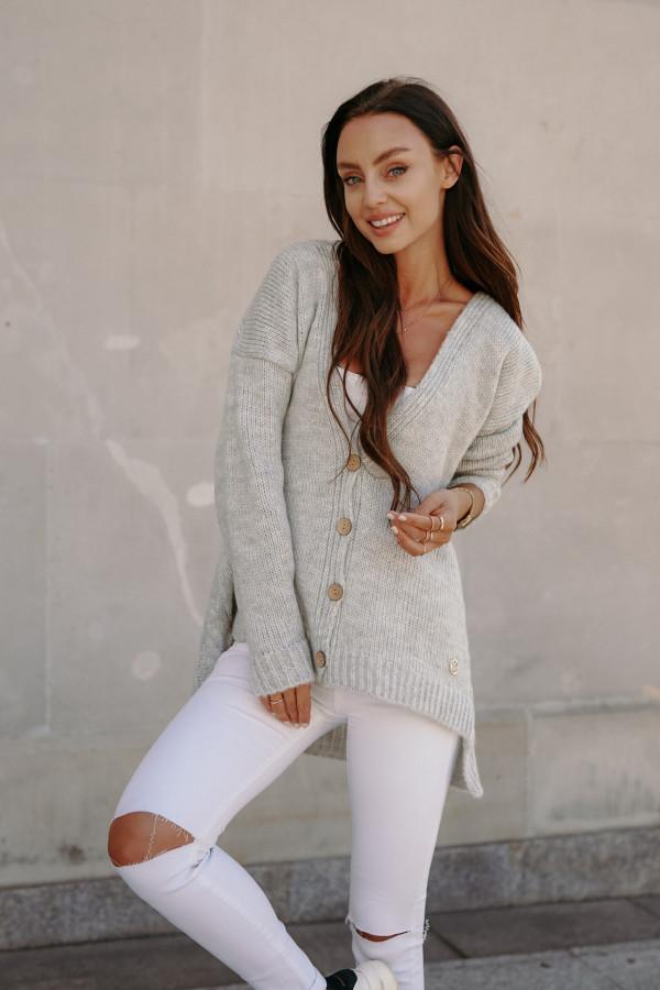 Sweter zapinany z dłuższym tyłem TOKIO 4