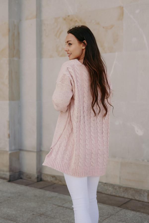 Sweter zapinany z dłuższym tyłem TOKIO 5
