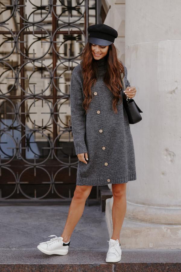 Swetrowa sukienka z golfem ORLANDO 1