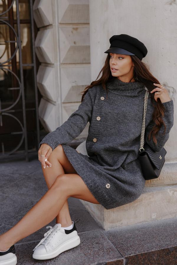 Swetrowa sukienka z golfem ORLANDO 5