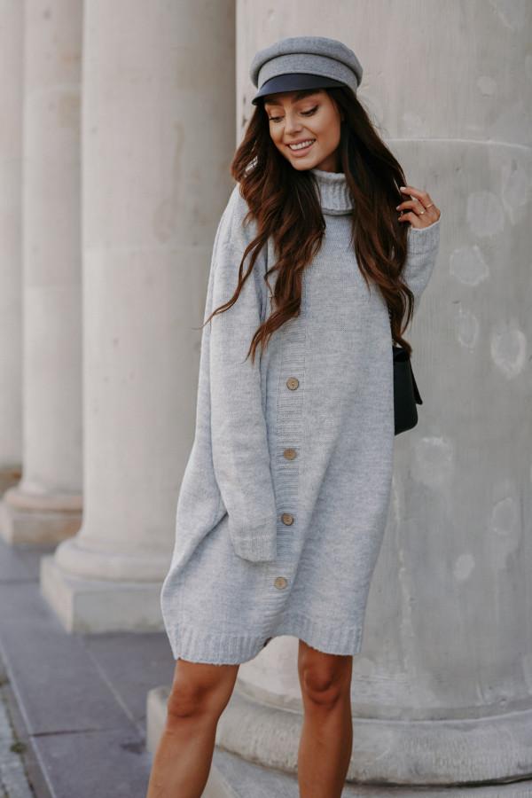 Swetrowa sukienka z golfem ORLANDO 3