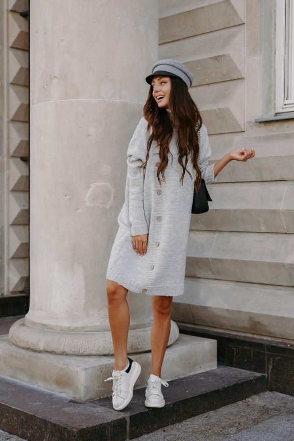 Swetrowa sukienka z golfem ORLANDO 2