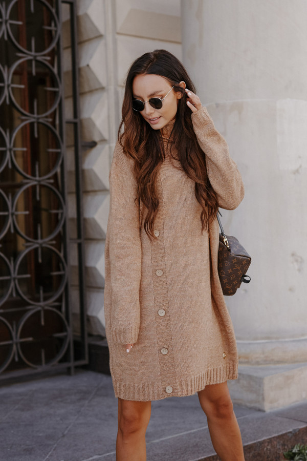 Swetrowa sukienka z golfem ORLANDO 4