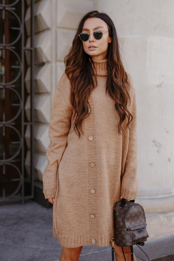 Swetrowa sukienka z golfem ORLANDO