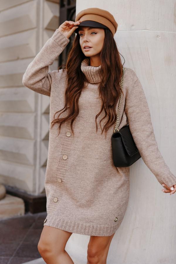 Swetrowa sukienka z golfem ORLANDO 6