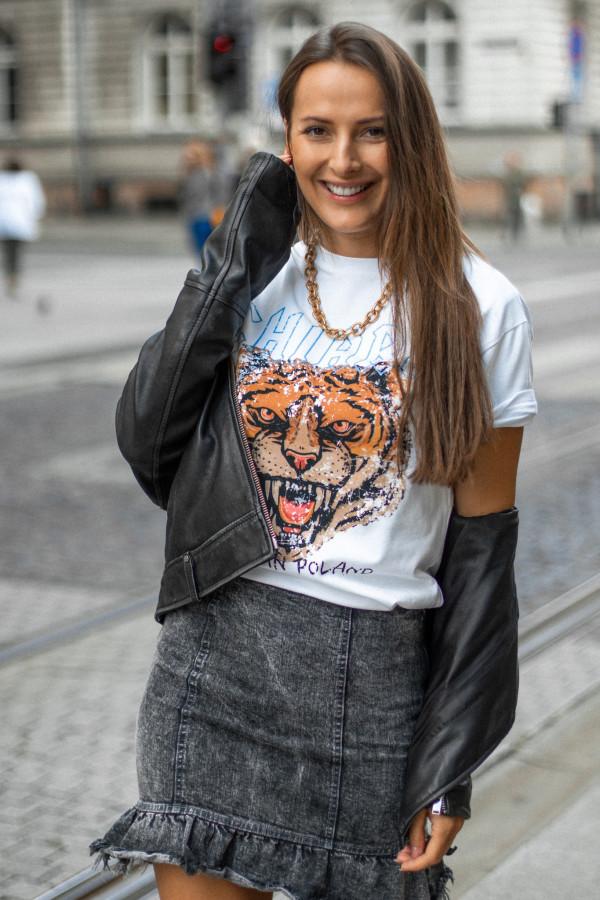 T-shirt basic CHIARA ROAR 1