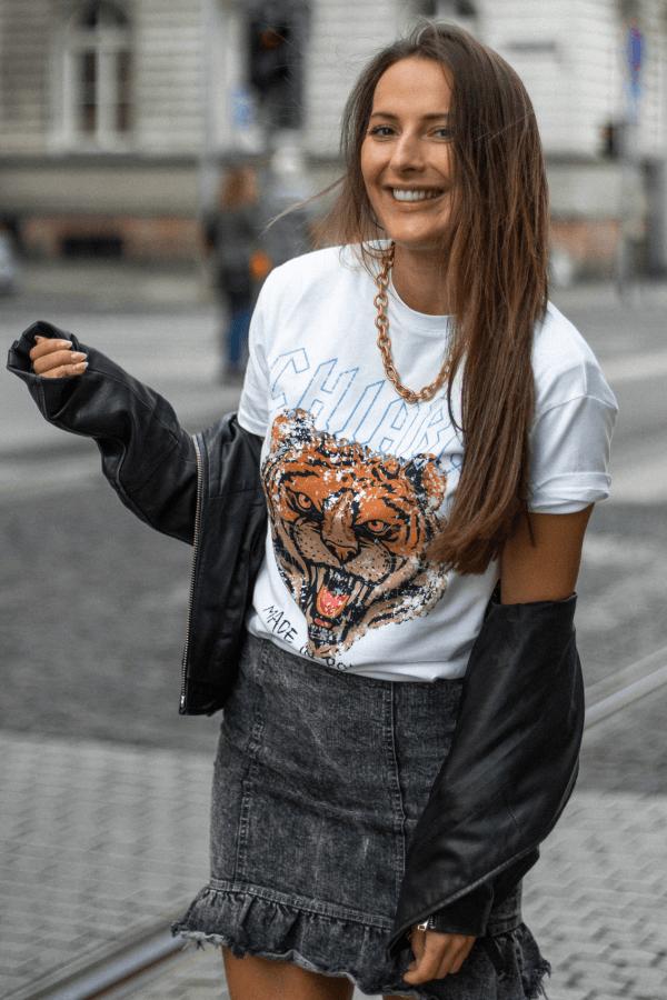 T-shirt basic CHIARA ROAR