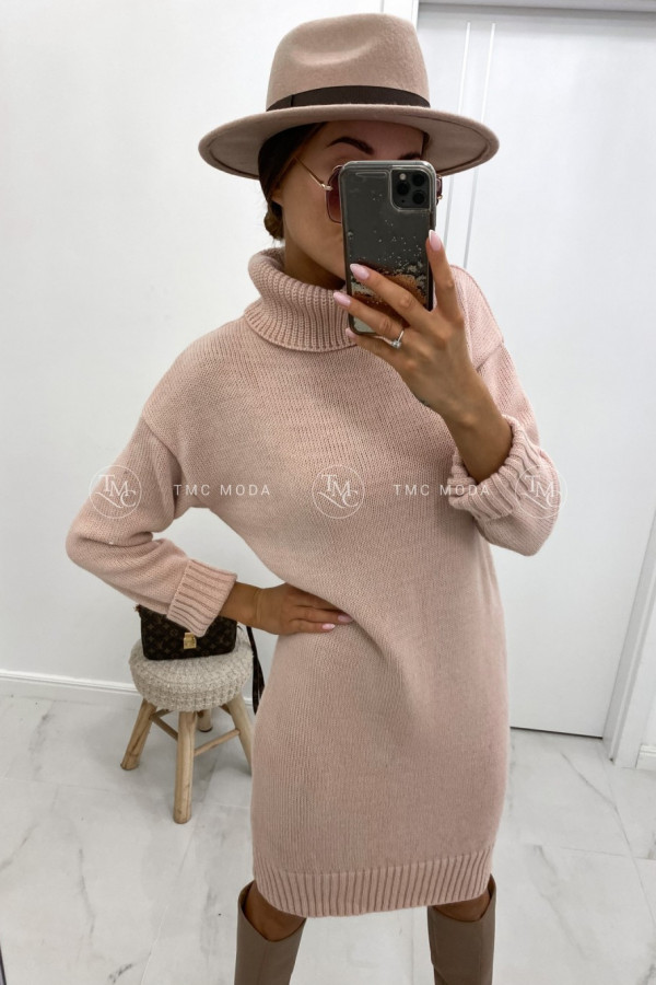 Sukienka swetrowa z golfem DIANA 1