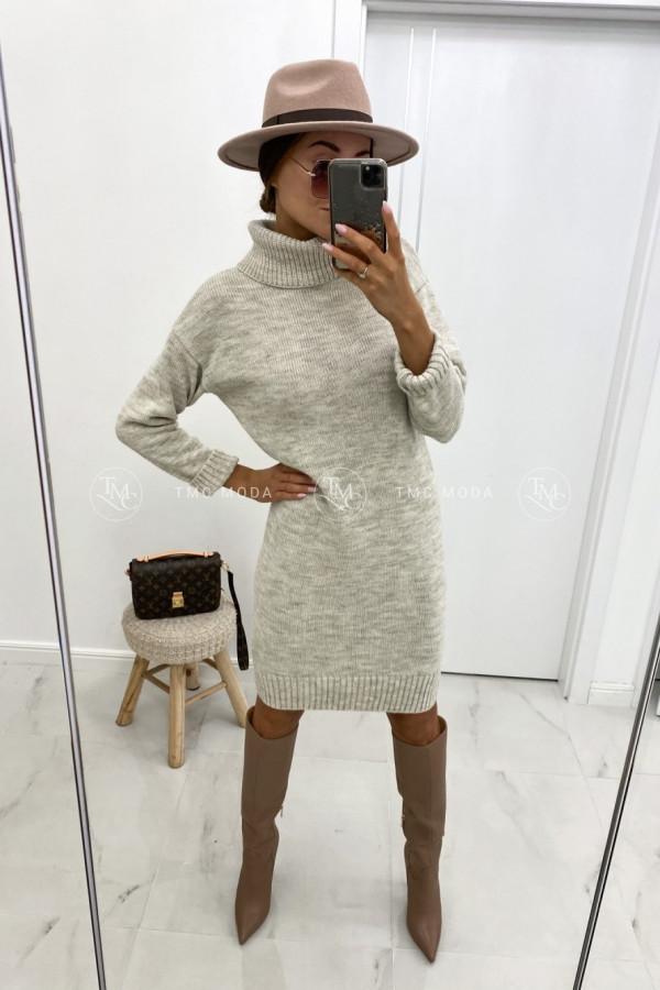 Sukienka swetrowa z golfem DIANA