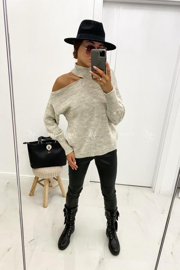 Sweter z wycięciem MAYA