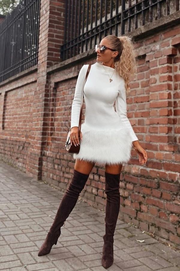 Sukienka z futerkiem GIVENCHY 3