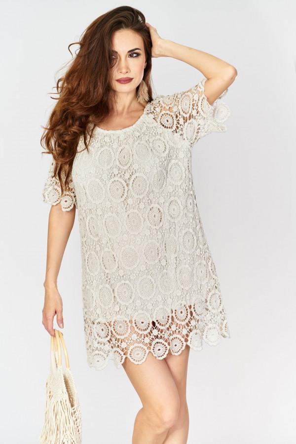Ażurowa sukienka BOHO 1