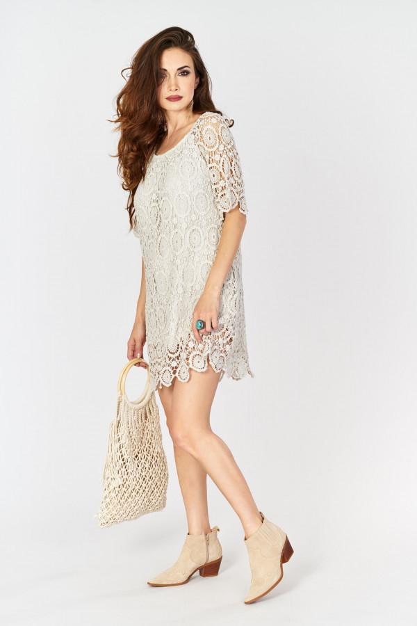 Ażurowa sukienka BOHO 4