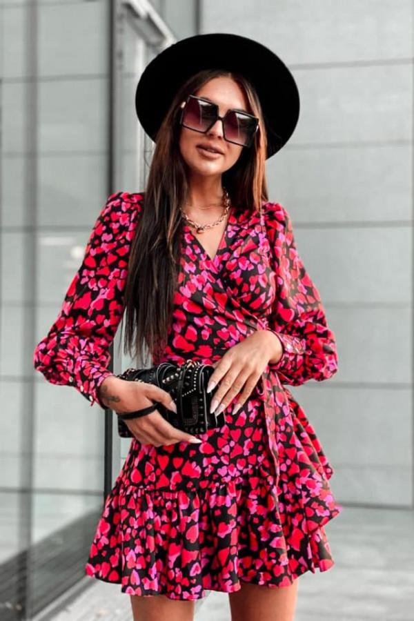 Kopertowa sukienka serca ANNA 4