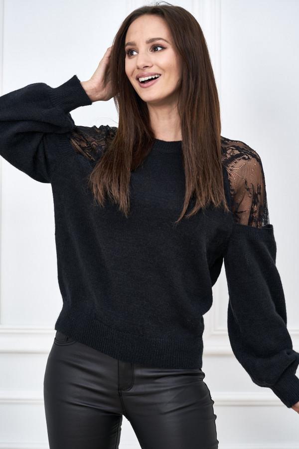 Sweter z koronką DORIS