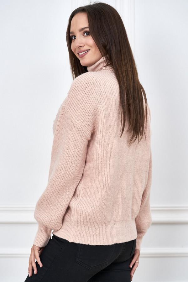 Sweter golf z perełkami SANA 2