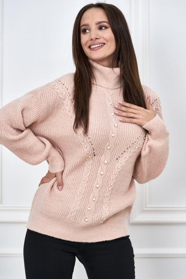 Sweter golf z perełkami SANA 3