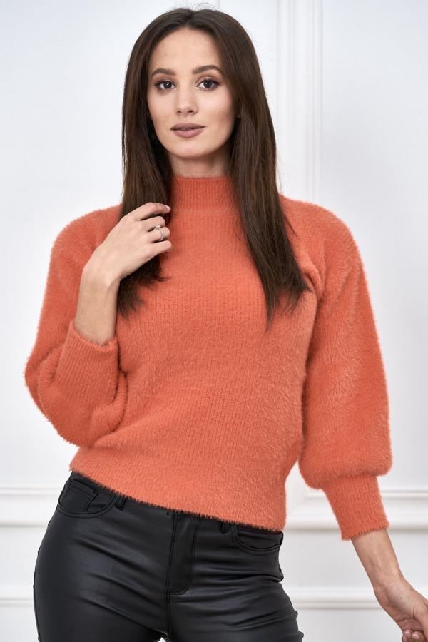 Sweter półgolf z bufiastymi rękawami LIBBY