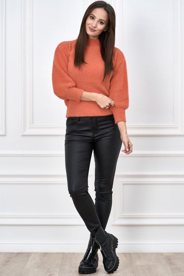 Sweter półgolf z bufiastymi rękawami LIBBY 1