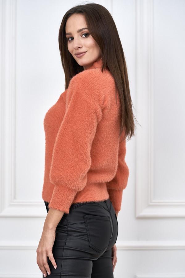 Sweter półgolf z bufiastymi rękawami LIBBY 2